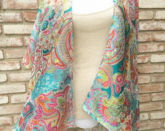 Kimono Cardigan, Boho Chic, Floral Kimono, Unicorns, Rainbows, Gift Ideas, Kimonos, Boho Kimono, Beach Cover Up, Festival Kimono, Fall Cardi