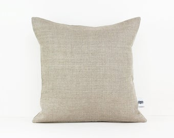 Taupe pillow cover - Nursery cushion - Decorative pillows -Playroom pillows - Minimalist pillow - Eco friendly linen