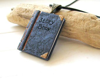 Book necklace, Book lover gift, Mini book necklace, Reader gift, Women jewelry gift, Librarian gift, Best friend gift, Bookworm, Books