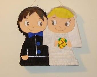 Bride and Groom pinata. wedding pinata.