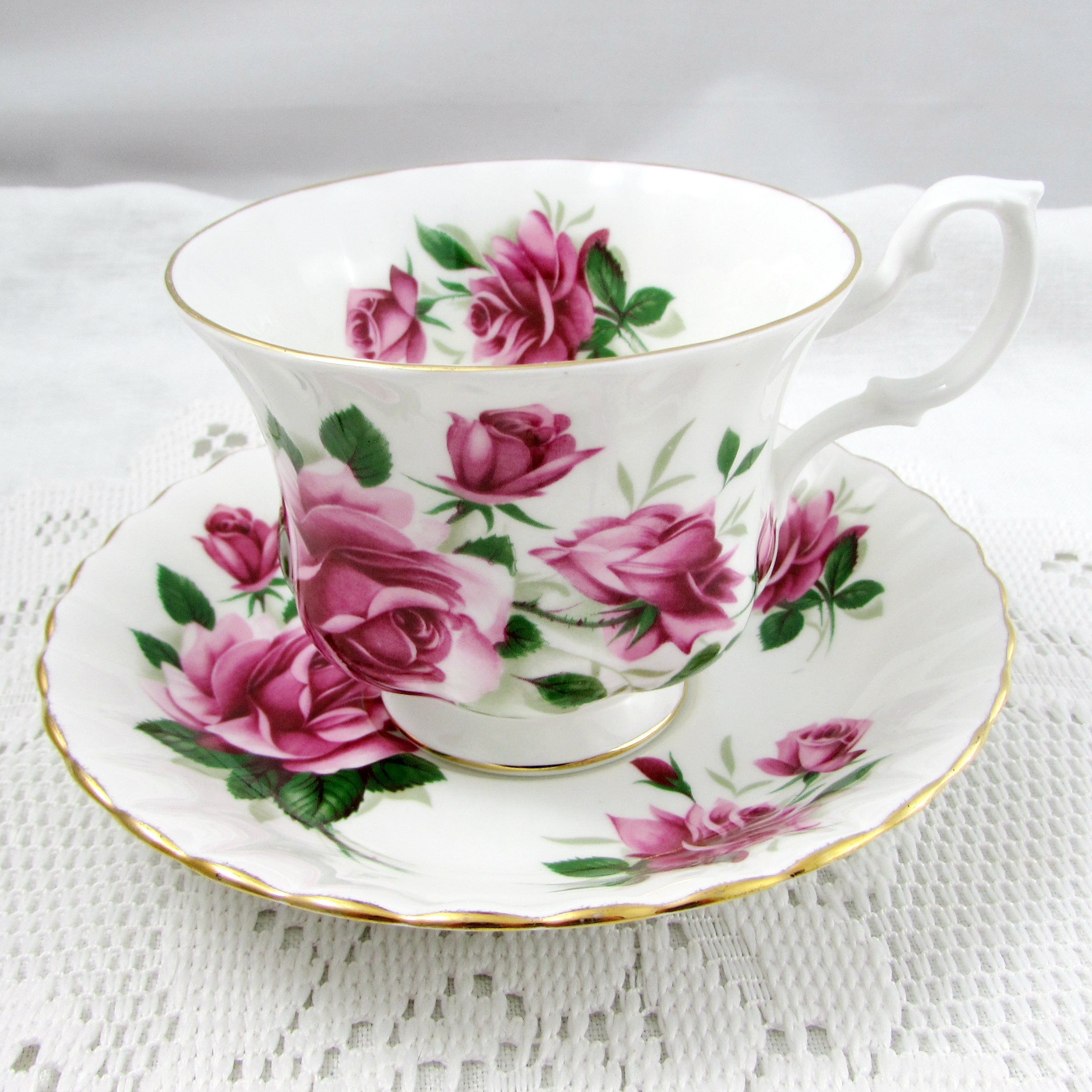 royal albert tea cup and saucer with pink roses vintage royal albert bone china