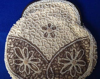 Beaded 1920s French Art Deco Evening Clutch Purse