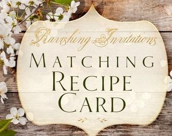 Matching Recipe card printable