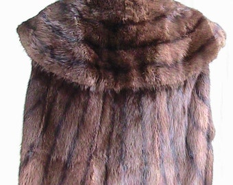 Vintage Mink Vest with Collar