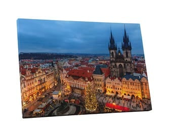 Castles and Cathedrals Prague Czech Republic Gallery Wrapped Canvas Print