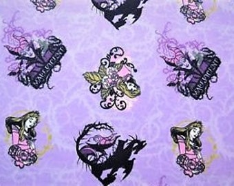 Disney Sleeping Beauty Maleficent Flannel Fabric Aurora