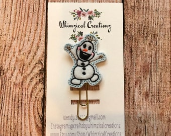 Happy Snowman Planner Clip