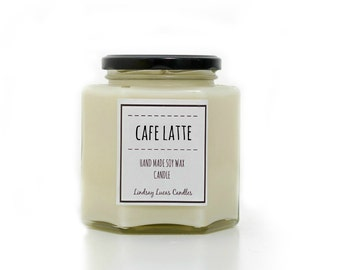 Coffee Candle, Coffee Scented Candle, Cafe Latte Candle, Scented Candle, Candle, Candles, Coffee Candles, Coffee Scent, Soy Wax Candle