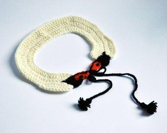 Crochet Swan Necklace