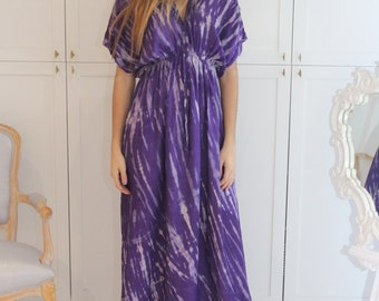 Classic Deep Purple Dress, One size fits all, Long Dress, Loose  / Maxi Dress / Kaftan - 0710033423157