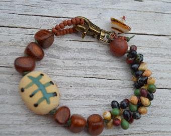 Earthy Boho bracelet Gaea - DayLilyStudio