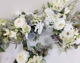 Bridesmaid Bouquet, Wedding Flowers, Wedding Bouquet, Silk Flower Bouquet, Silk Flowers, Bouquet, Bridesmaids Bouquet Set
