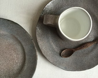 Gray Dinner Plates-Dinnerware Ceramic Plates-Wedding Gift-Ceramics And Pottery