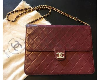 CHANEL-Bag Chanel Timeless years 70-Vintage Chanel purse