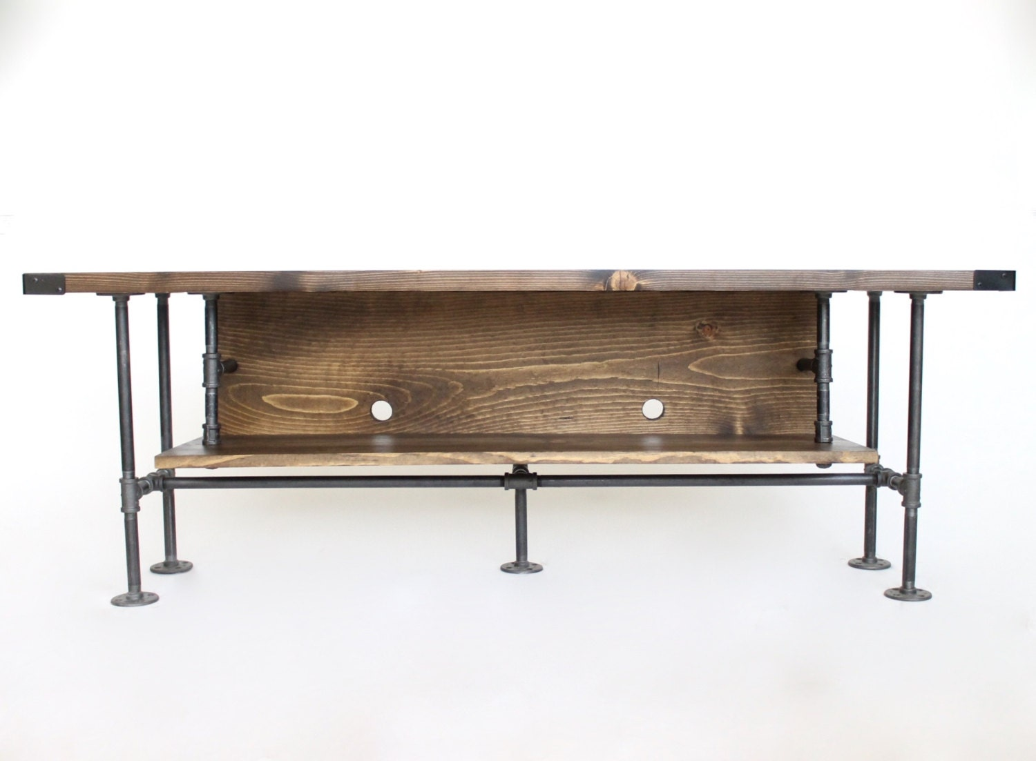 Rustic Tv Stand Industrial Tv Console Media Cabinet