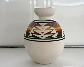 Vintage Southwestern Ceramic Vase Handmade