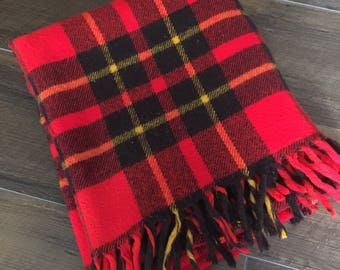 Vintage plaid blanket  plaid blanket vintage plaid blanket plaid throw