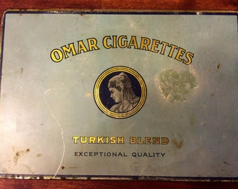Vintage Omar Cigarettes Tin
