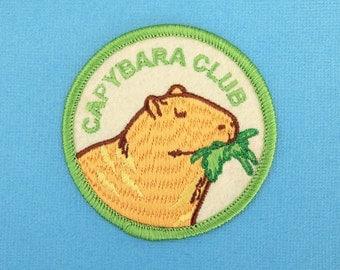"Capybara Club 2.5"" Iron-on Patch natelledrawsstuff"