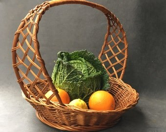 Basket Wicker vintage - Wicker - wicker basket - basket rattan fruit basket