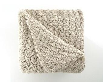 Crochet Blanket - Chunky Blanket - Baby Blanket -  Alpaca Blanket - Throw Blanket - Crochet Afghan - Uncinetto - Couverture - крючком одеяло