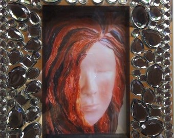 Z Gallerie Modernistic Table Frame includes Art Print from iMergination