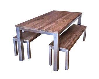 Lepak Industrial Dining Bench. Beautiful sets available. Stunning, ethical, eco-friendly with free delivery!