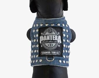 Pantera Inspired Walk Studded Denim Vest