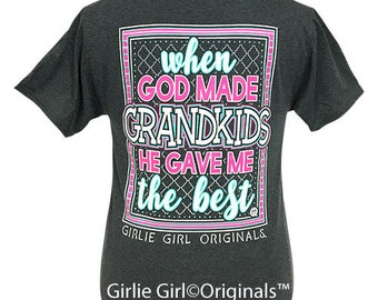 Girlie Girl Originals Grandkids Black Heather Short Sleeve T-Shirt