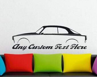 Large Custom car silhouette wall sticker - for Alfa Romeo Giulietta Sprint coupe 1959-66
