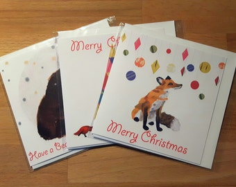 Illustrated Christmas Card set of 3