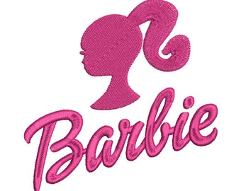 Barbie Doll Logo Filled (5x7) - Embroidery Machine Design