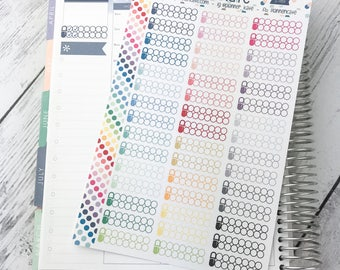 S-789 || AM / PM Medicine TRACKER Stickers for Planner (45 Removable Matte Stickers)