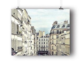 Paris Photo, Montmartre Rooftops, Paris Photography, Fine Art Print, Wall Art, Decor, French Buildings, Photography Print, 8 x 10