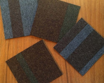 100% Wool Felt Coaster Set - includes 4 coasters