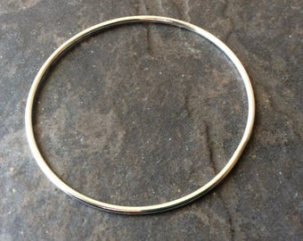 """Sterling Silver plain bangle bracelet 2 3/4"""" diameter"""