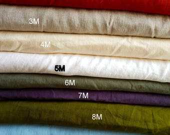 Linen Fabric / Washed / Available COLORS and TYPE of LINEN for women and man clothing / Price  Fabric by the 1/2 Yard