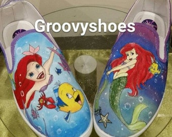 Under the sea . Mermaids. Sea witch pumps for kids