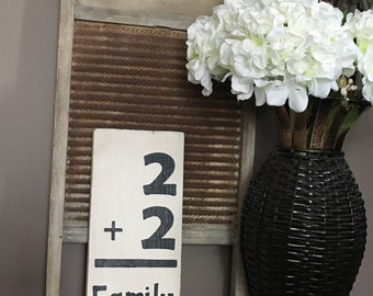 Family sign-rustic home decor-wood sign-ivory sign-rustic sign