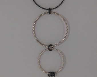 Oxidized Sterling Silver Chain Necklace (Black) and Sterling Silver