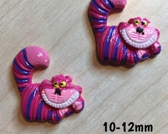10mm-12mm Cheshire Cat from the Alice In Wonderland plugs for stretched ears