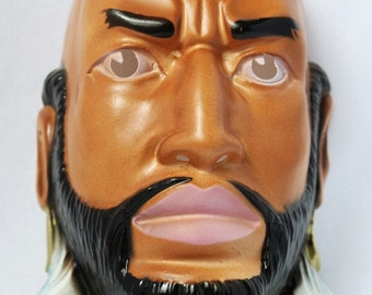 Vintage Mr T B.A. Barracus The A Team Halloween Mask 1980's 80's