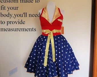 Wonder Woman dress , MADE TO MEASURE!!