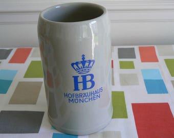 Great Salt Glazed Stein Advertising HB - The Hofbrauhaus of Munich, Germany.