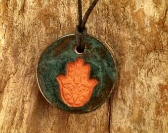 Hamsa Essential Oil Diffuser   Diffuser Necklace   Yoga Accessory   Hamsa   Aromatherapy   Meditation Accessory