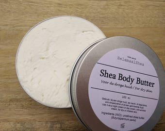 Pure Shea Body Butter with organic certified unrifined shea butter / eczema / psoriasis / anti-wrinkle / night / whipped / cream / dry skin