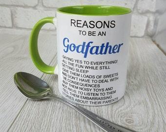 Reasons to be a Godfather mug coffee mug godfather gift godfather mug coffee cup personalized mug godfather cup tea mug gift for godfather