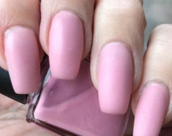 Hey Baby  baby pink matte nail polish