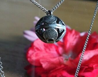 Spherical flower ball  necklace