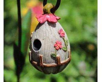 Fairy Garden  - Flowering Birdhouse - Miniature